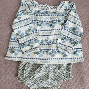 2 pc fall printed top + diaper cover Old Navy
